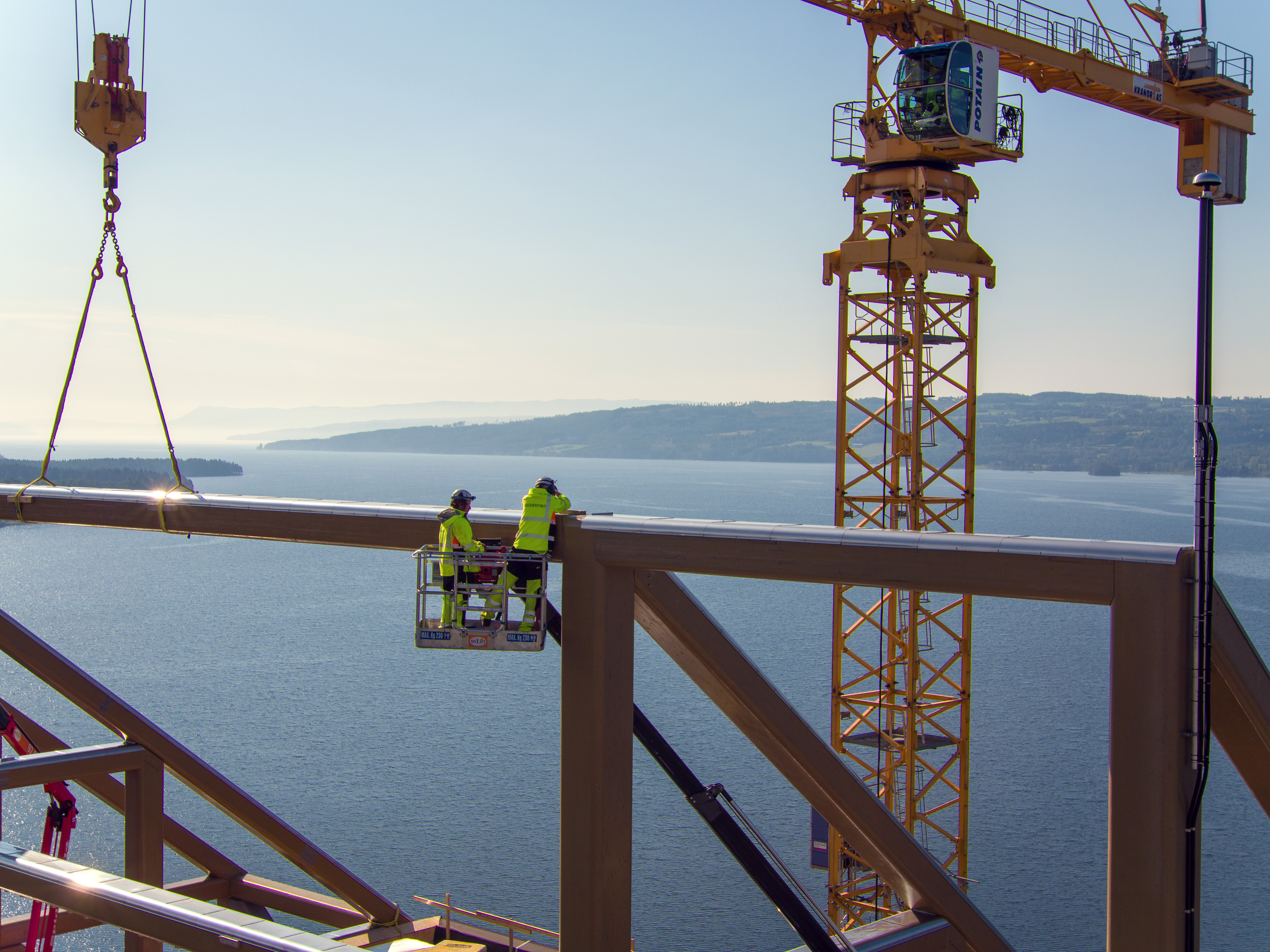 the final beam was put in place on the Mjøstårnet in September