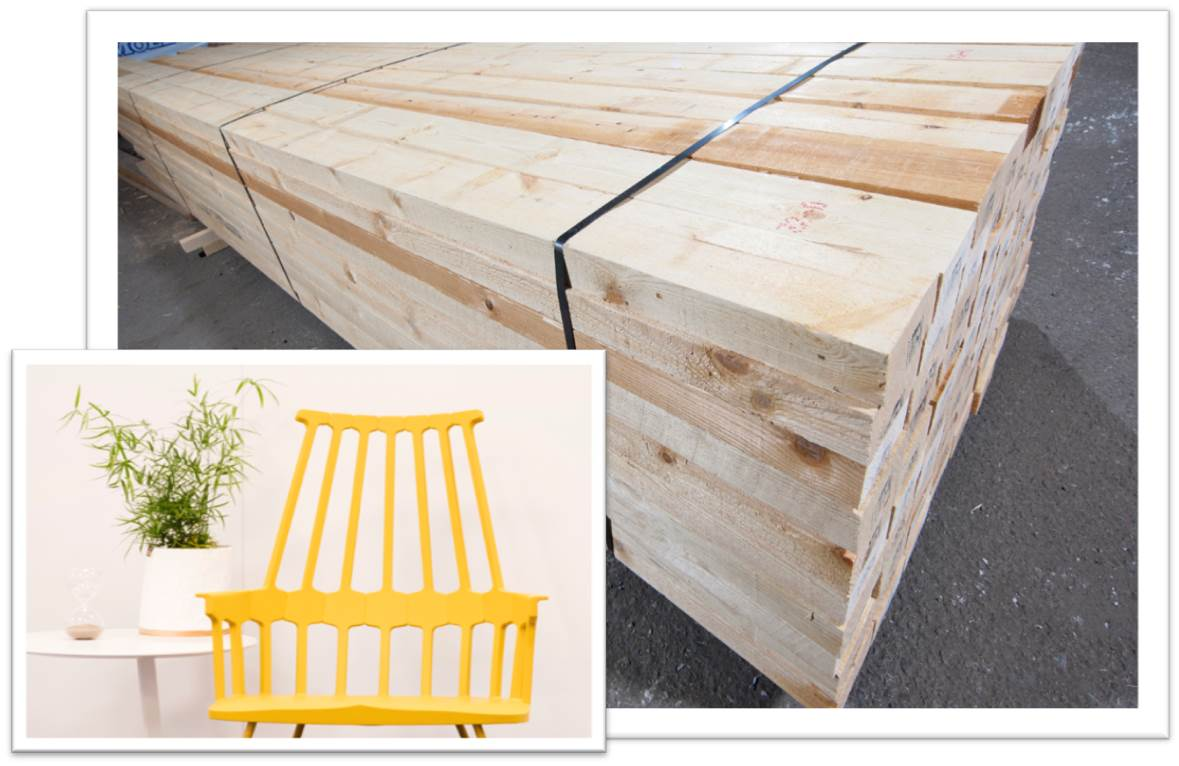 Sawn timber for production of furnitures