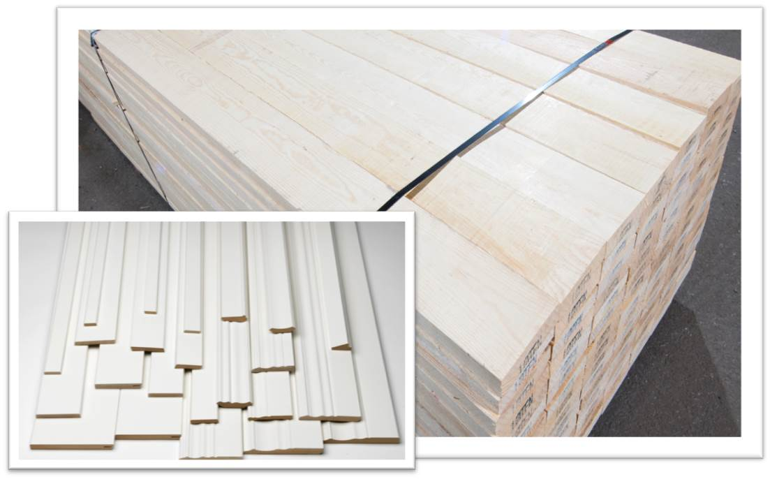 Sawn timber for production of mouldings