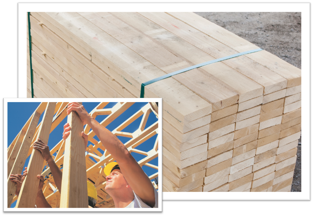 Sawn timber for construction/ carcassing
