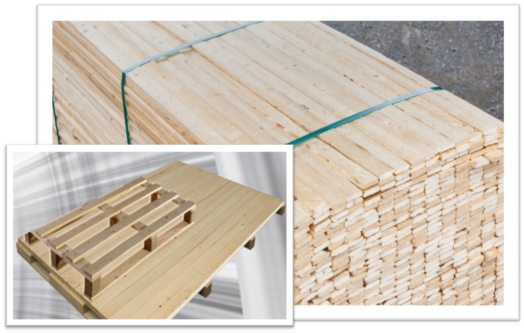 Sawn Timber for production of wooden packaging