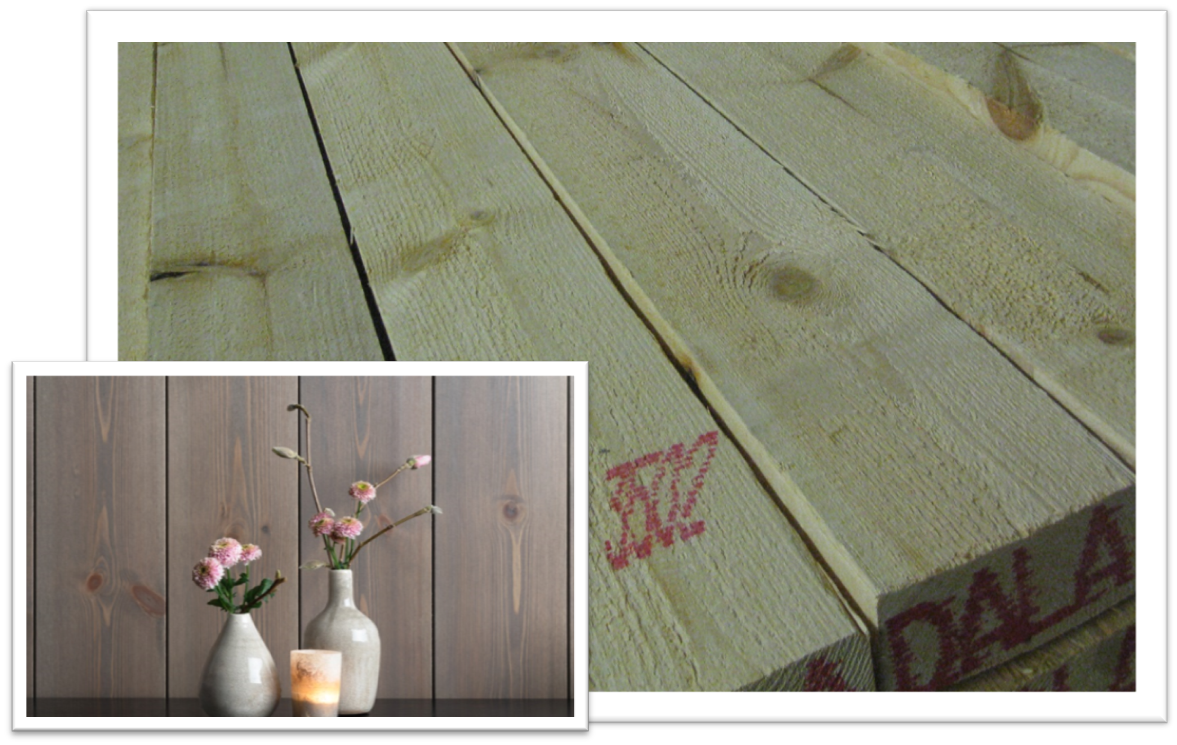 Sawn timber for production of interior panels and flooring