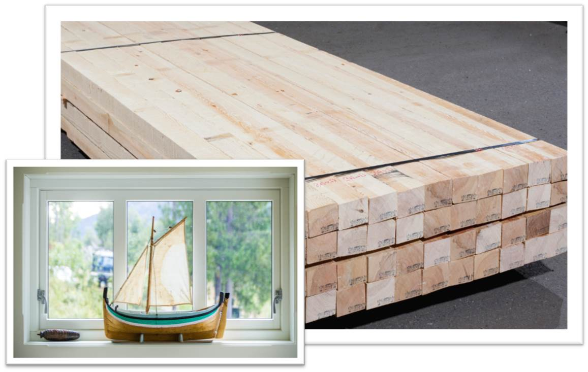 SAWN TIMBER for windows' production
